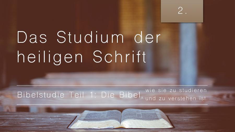1.Bibelstudie 2