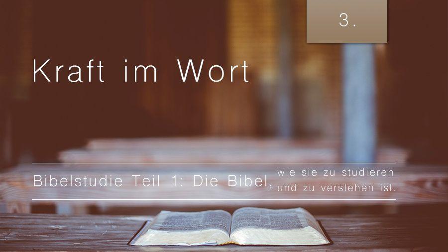 1.Bibelstudie 3