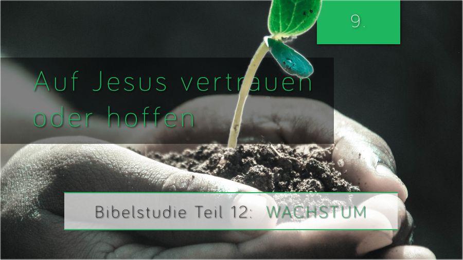 12.Bibellesungen - Auf Jesus Vertrauen oder Hoffen