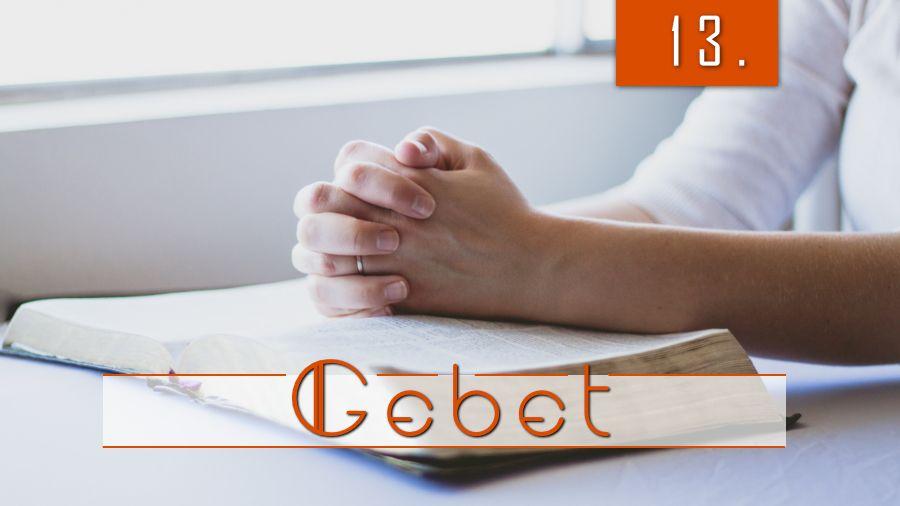 13.Bibelstudienmaterial - Das Gebet