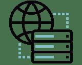 Datenschutz Webhosting Icon -
