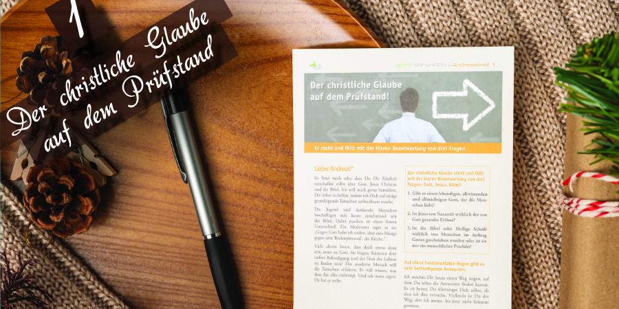 Andreasbrief 1 - Der christliche Glaube auf dem Prüfstand - Artikelbild