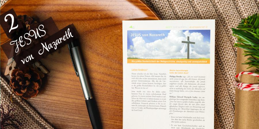 Andreasbrief 02 - Jesus von Nazaretz Artikelbild