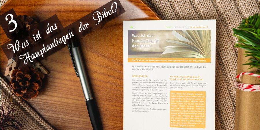 Andreasbrief 03 - Was ist das Hauptanliegen der Bibel? Artikelbild
