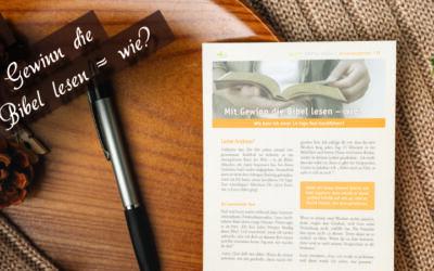 Andreasbrief 15 – Mit Gewinn die Bibel lesen – wie?
