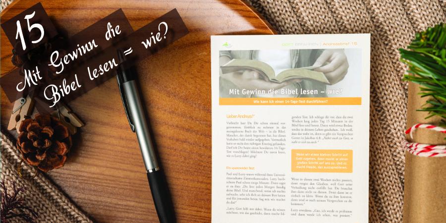 Andreasbrief 15 - Mit Gewinn die Bibel Lesen - Wie? Artikelbild