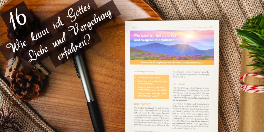 Andreasbrief 16 - Wie kann ich Jesu Liebe und Vergebung erfahren? - Artikelbild